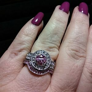 Sz7 Engagement and wedding ring
